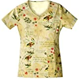 Cherokee 4729C Women's Scrub HQ Love This Life Cotton V-Neck Print Scrub Top