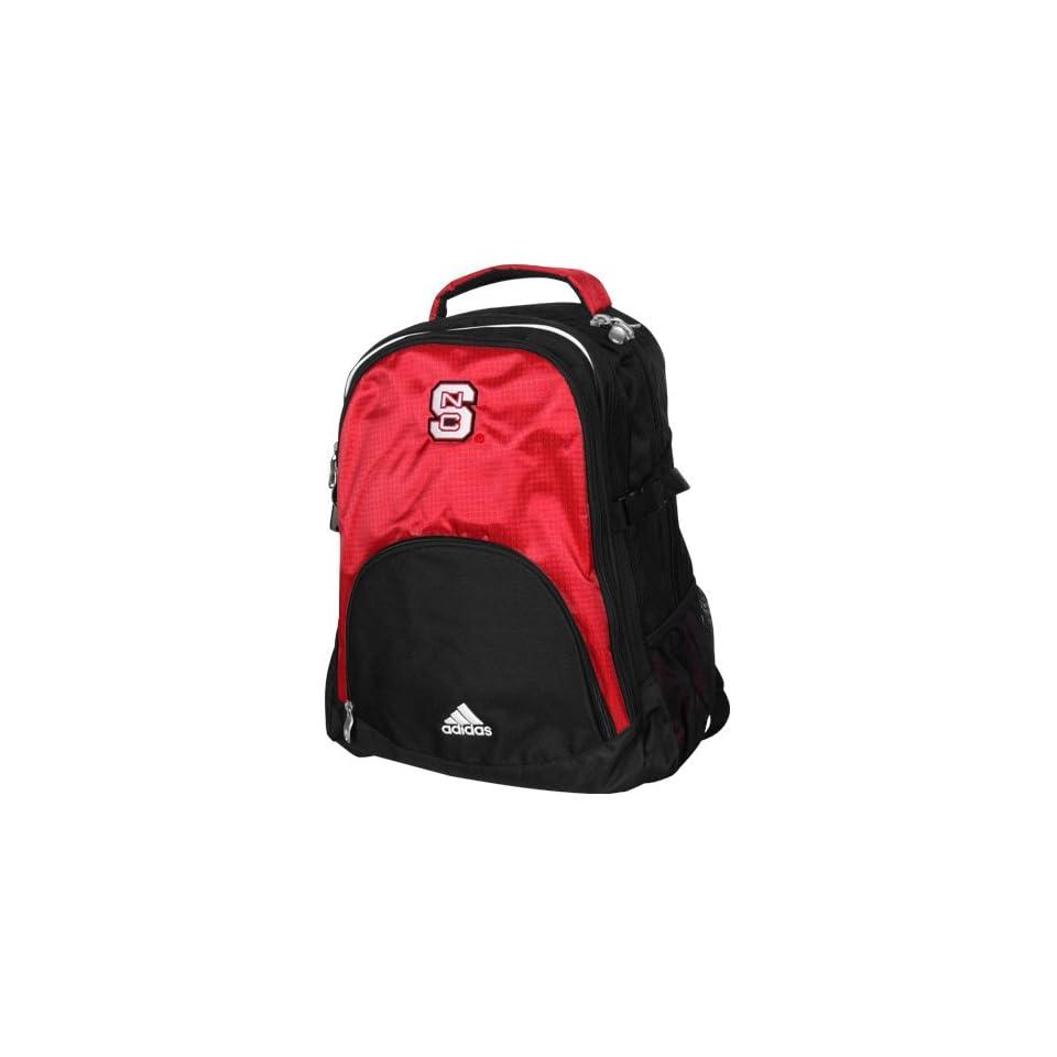 NCAA adidas North Carolina State Wolfpack Scarlet Black Campus Backpack