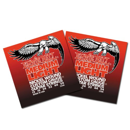Ernie Ball Electric Guitar Strings - Nickel Wound Medium Lig