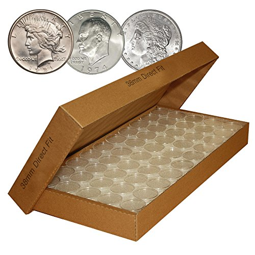 1000-Direct-Fit-Airtight-38mm-Coin-Capsules-Holders-For-MORGAN-PEACE-IKE-DOLLARS