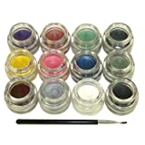 Starry Long Lasting Waterproof Smudge proof Eyeliner Gel All 12 Colors