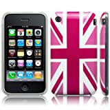 iPhone 3GS / 3G 'Cool Britannia Pink' (Designed by Creative Eleven) TPU Gel Skin / Case / Cover Part Of The Qubits Accessories Rangeby Qubits