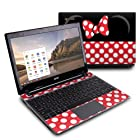Minnie Bow Design Protective Decal Skin Sticker (High Gloss Coating) for Acer C7 C710-2847 Chromebook