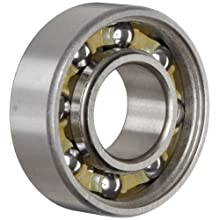 "Nice Ball Bearing 1616NS Unshielded, 52100 Bearing Quality Steel, 0.5000"" Bore x 1.1250"" OD x 0.3750"" Width"