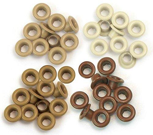 Set de 60 eyelets para Crop a Dile marrones de 0,5cm ref 41581-7