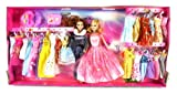 Dream Princess Dual Toy Doll Playset, Comes w/ Various Dress Outfits, 2 Dolls, Accessories