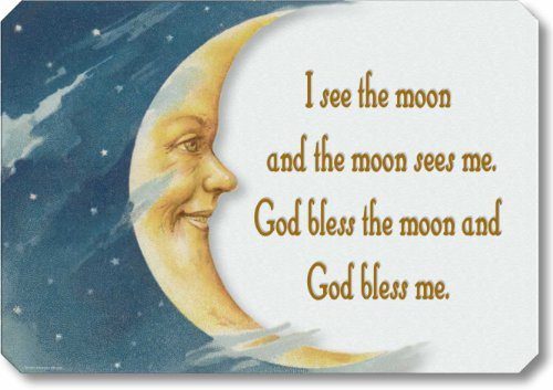 Item 42107 Sign Man In The Moon Nursery Rhyme Plaque