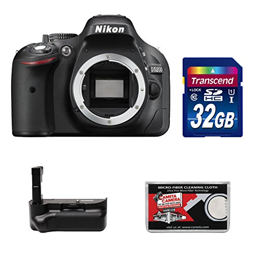 Nikon D5200 Digital Slr Camera Body (Black) With 32Gb Card + Grip + Accessory Kit (Refurbished By Nikon Usa)