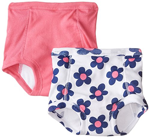 Gerber Baby-Girls Infant Flowers 2 Pack Training Pant with Peva Lining, Flowers, 2T/3T (Gerber Waterproof Pants compare prices)