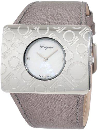 Ferragamo Women's F65LBQ9991 S108 Venna White Mother-Of-Pearl Watch