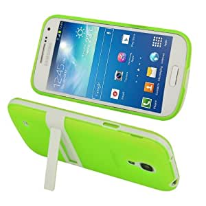 Detachable Plastic Frame + TPU Combination Case with Holder for Samsung Galaxy S IV mini / i9190 (Green)