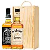 Jack Daniels Old No.7 & Jack Daniels Honey in Wooden Gift Box