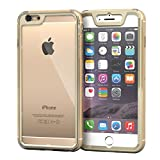 roocase iPhone 6 Plus Case, Gelledge Premium Hybrid PC / TPU Protective Full Body Case Cover (Beige Tan Gold) Compatible with Apple iPhone 6 Plus 5.5-inch