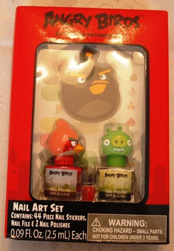 Angry Birds Nail Art Set with 44piece Nail Stickers - 1