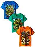 Nickelodeon Little Boys' Ninja Turtles 3 Pack Tees, Assorted, 5/6
