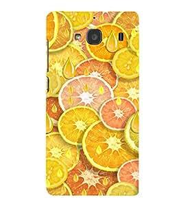PrintVisa Orange And Lemon Pattern 3D Hard Polycarbonate Designer Back Case Cover for Xiaomi Redmi 2S