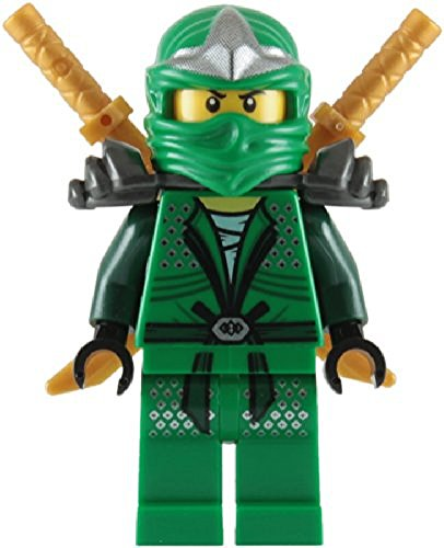 Lloyd ZX (Green Ninja) with Dual Gold Swords - LEGO Ninjago Minifigure