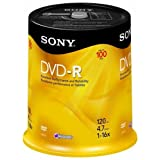 Sony DVD-R 16x Recordable DVD 4.7GB - 100 Disc Spindle (Discontinued by Manufacturer) ~ Sony
