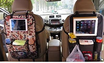 Car Seat Back Organisers - EssVita Extra Large Multi Pocket Storage iPad, Snacks, Cans - Multipurpose Baby Stroller Organizer Auto Seat Back Protector from EssVita
