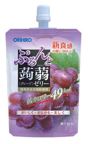 オリヒロ ぷるんと蒟蒻ゼリーSTグレープ 130g