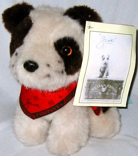 "Wells Fargo 7"" Jack the Dog Plush - 1"