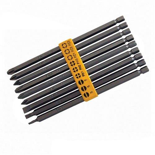 Silverline SB08 9 Piece Extra Long Power Bit Set