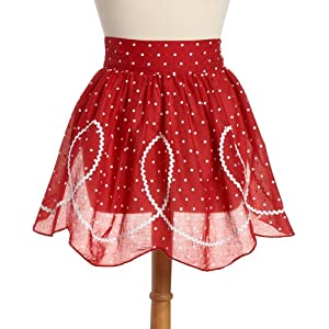 DII Red and White Polka Dot Hostess Apron