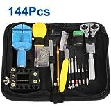 WMicroUK High Quality 144Pcs Watch Repair Tool Kit Set