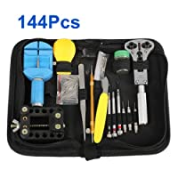 WMicroUK High Quality 144Pcs Watch Repair Tool Kit Set