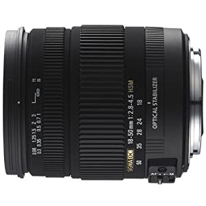 Sigma 18-50mm f/2.8-4.5 SLD Aspherical DC Optical Stabilized (OS) Lens with Hyper Sonic Motor (HSM) for Canon Digital SLR Cameras