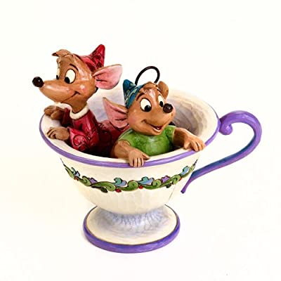 "Disney Traditions by Jim Shore Cinderella Jaq and Gus Tea Cup Figurine ""Tea For Two"" (4016557)"