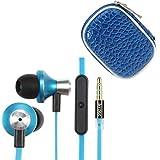iKross In-Ear 3.5mm Noise-Isolation Stereo Earbuds w/ Mic - Blue/Black for LG G Pad 10.1, G Pad 8.0, G Pad 7.0... by iKross