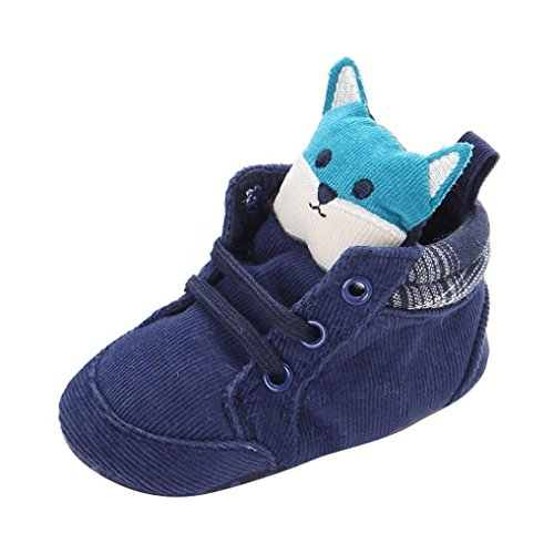 Kingko® Neonato Bambino Bambini Prewalker del fumetto merletto del bambino antisdrucciolevole molle Sole Scarpe invernali (0~6 mesi)