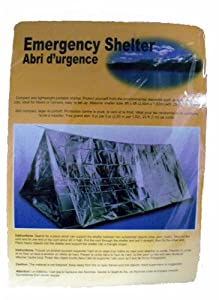 Emergency Shelter Tent, Reflective Tube Tent, Cold Weather Emergency Shelter 8 ft x 5 ft by