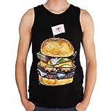 Rook King Burger Tank Top Black