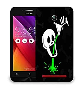 Snoogg skull drinking poison 2787 Designer Protective Back Case Cover For Asus Zenfone GO