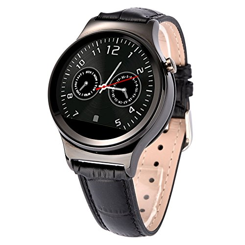 Padgene Touch Bluetooth Smart Watch for Samsung, LG, HTC, Snoy, iPhone (Partial Functions) and Other Android Smartphones, Black
