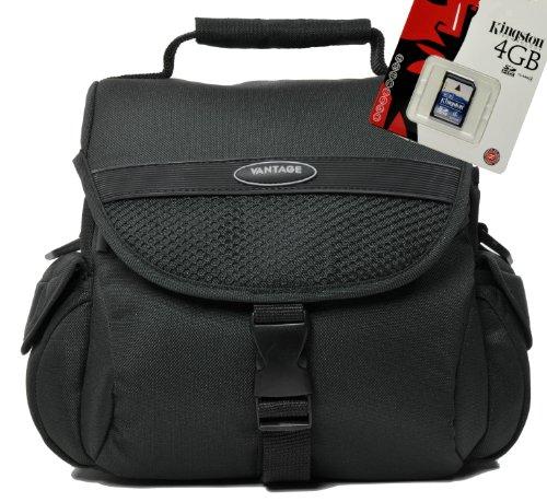 Hochwertige Universal Kameratasche Foto-Tasche für die SLR Ausrüstung Set mit 4GB SD Karte für Canon EOS 600D 70D 1200D 1100D Nikon D7100 D7000 D5300 D5200 D5100 D610 D600 D3300 D3200 D3100 Sony Alpha 7 3000 A58 A57 A37 Nex 6000 5000 und viele andere (siehe Beschreibung)