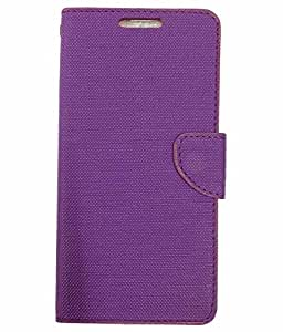 AlbaCase™ Premium Synthetic Leather Flip Cover Case For Infocus M330 - PURPLE