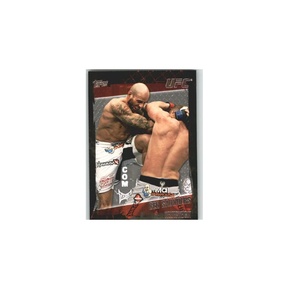 2010 Topps UFC Trading Card # 102 Ben Saunders (Ultimate