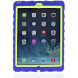 iPad Air - Drop Tech - Ruggedized Case - RoyalBlue-Lime