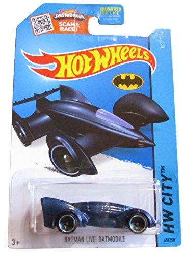 Hot Wheels, 2015 HW City, Batman Live! Batmobile [Blue] Die-Cast Vehicle #65/250 - 1