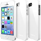 RINGKE SLIM for Apple iPhone 5 / 5S Case [LF White] SUPER SLIM + LF COATED + PERFECT FIT Premium Hard Case Cover [ECO Package]