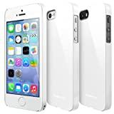 [BETTER GRIP] RINGKE SLIM® iPhone 5 / 5S Case [LF WHITE] SUPER SLIM + LF DUAL COATED + PERFECT FIT Anti-Scratch Surface Premium Hard Case Cover w/ Full access to all functions for Apple iPhone 5S / 5 [ECO Package] * Does Not Include Free Screen Protector.