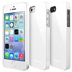 Apple iPhone 5 / 5S Case - Ringke SLIM Case [LF White][Better Grip] Premium Dual Coated Hard Case Cover for Apple iPhone 5 / 5S [ECO Package]