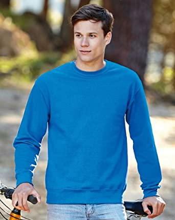 Fruit of the Loom Set-In Sweat Shirt S Heather Grey
