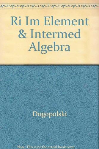 Element & Intermediate Algebra - Instructor's Solutions Manual
