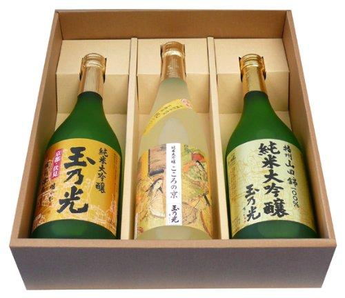 京都・伏見の酒蔵『玉乃光』 米100%の日本酒!純米大吟醸酒3種類 飲み比べセット!各種ギフト・家飲みに!