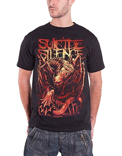 Suicide Silence - Top - Maniche corte  - Uomo nero Large