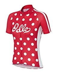 Odlo Women's Full Zip Short Sleeve Cycling Shirt